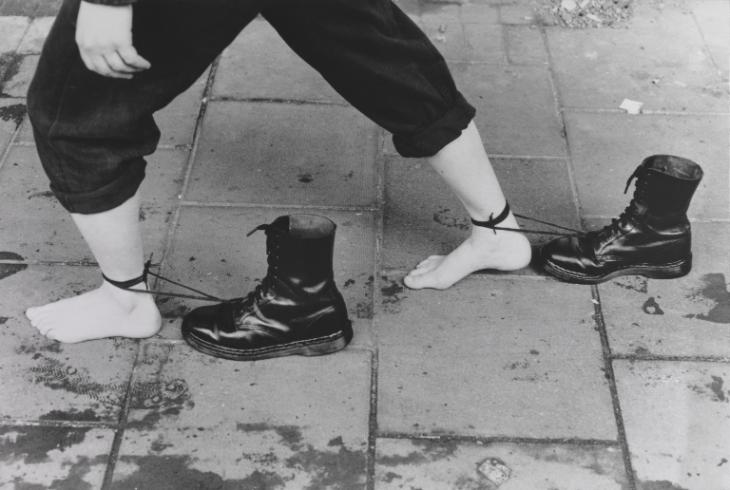 Performance Still 1985, 1995 by Mona Hatoum born 1952